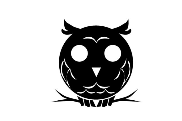 Download Free Owl Silhouette Grafik Von Rfg Creative Fabrica for Cricut Explore, Silhouette and other cutting machines.