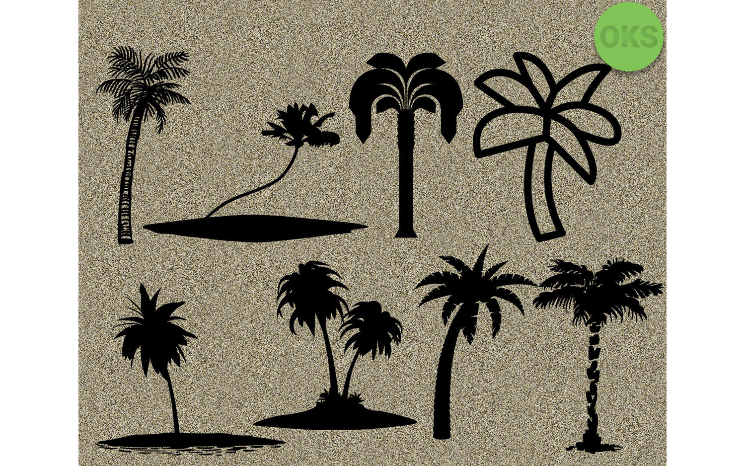 Download Free Palm Tree Bundle Vector Cricut Graphic By Crafteroks Creative for Cricut Explore, Silhouette and other cutting machines.