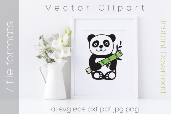 Download Free Panda Bear Svg Watercolor Clipart Vector Graphic By Ibeartoo for Cricut Explore, Silhouette and other cutting machines.