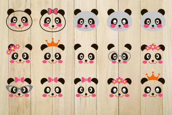 Print on Demand: Panda Face Graphic Crafts By yulnniya