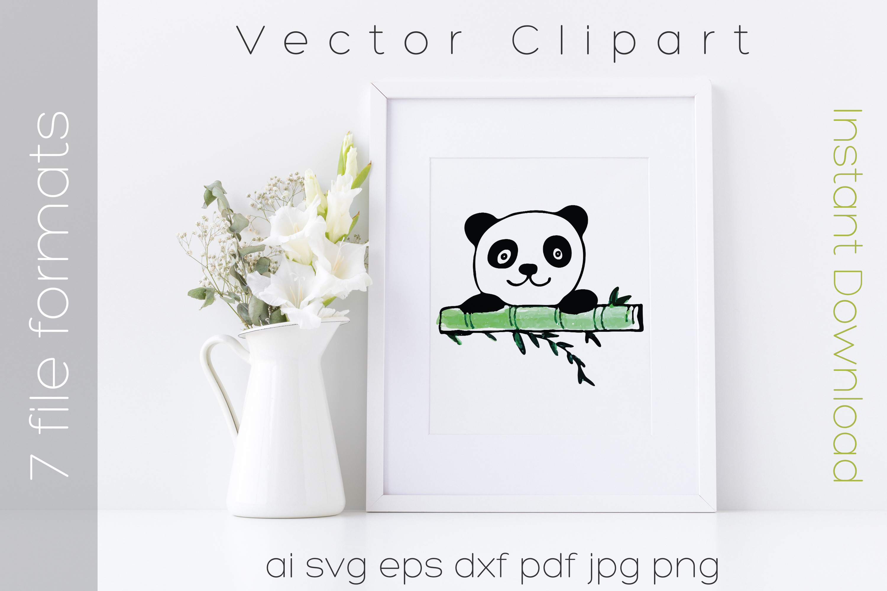 Panda Svg Watercolor Bear Clipart Graphic By Ibeartoo Creative