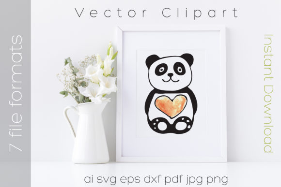Panda Watercolor Bear Clipart Graphic By Ibeartoo Creative Fabrica