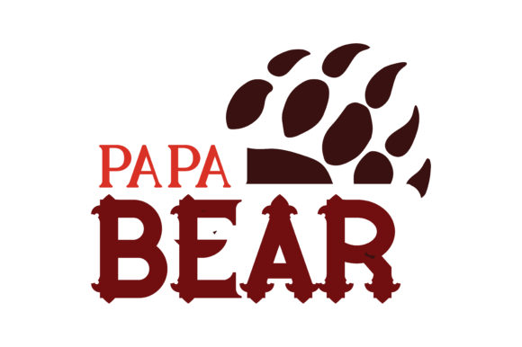 Download Free Papa Bear Quote Svg Cut Graphic By Thelucky Creative Fabrica for Cricut Explore, Silhouette and other cutting machines.