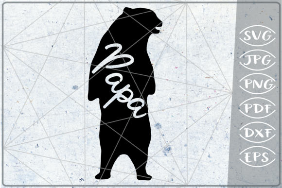Download Free Papa Bear Mother S Day Graphic By Cute Graphic Creative Fabrica for Cricut Explore, Silhouette and other cutting machines.