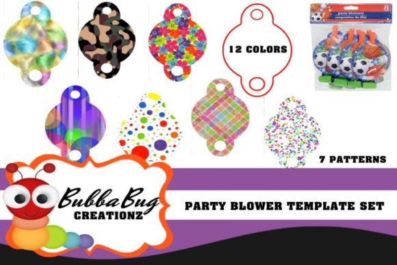 Party Blower Set Graphic Crafts By BUBBABUG