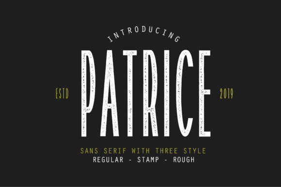 Print on Demand: Patrice Sans Serif Font By Typefar