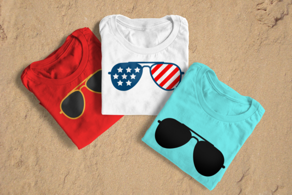 Patriotic Plain Aviator Sunglasses Svg Graphic By Risarocksit