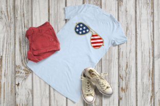 Download Free Patriotic Plain Aviator Sunglasses Svg Graphic By Risarocksit for Cricut Explore, Silhouette and other cutting machines.