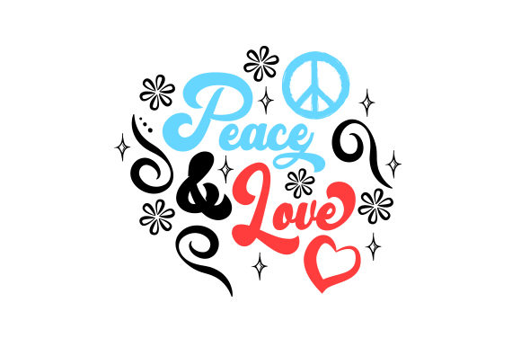 Peace & Love Designs & Drawings Craft Cut File By Creative Fabrica Crafts - Image 1