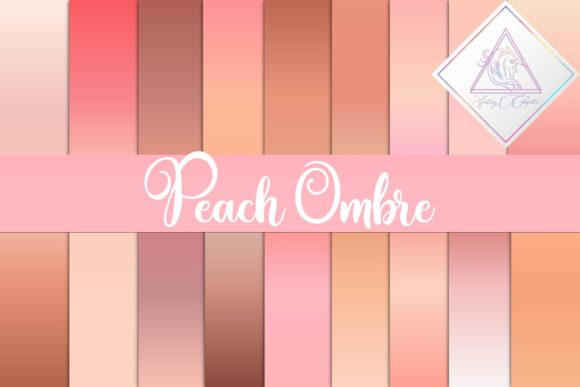 Print on Demand: Peach Ombre Digital Paper Graphic Textures By fantasycliparts