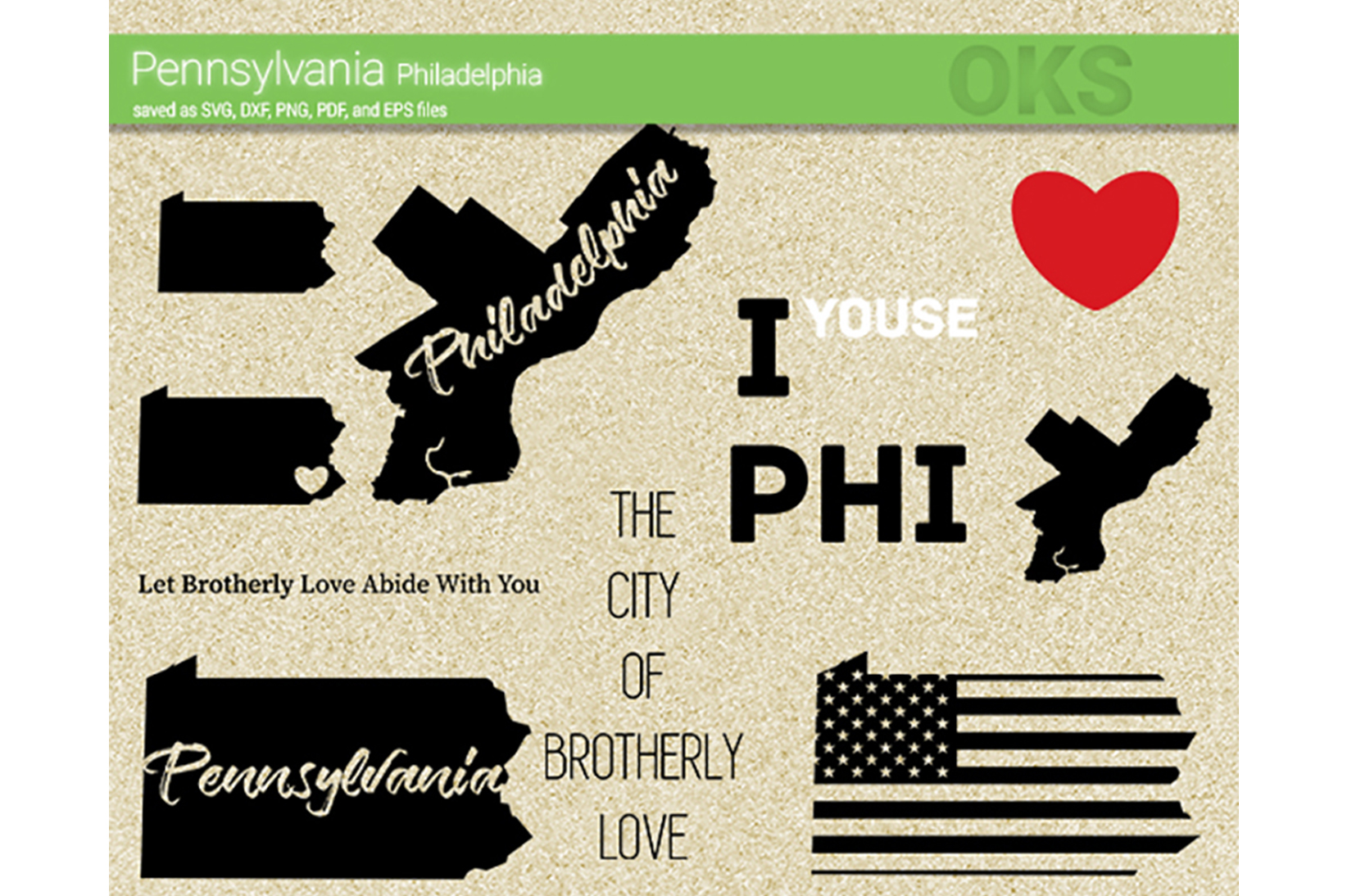 Download Free Pennsylvania Philadelphia Svg Vector Graphic By Crafteroks for Cricut Explore, Silhouette and other cutting machines.