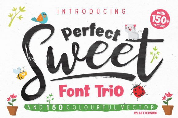 Print on Demand: Perfect Sweet Trio Script & Handwritten Font By Lettersiro Co.
