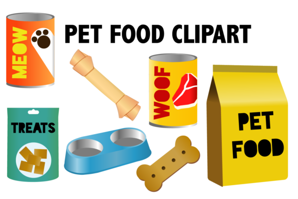 Print on Demand: Pet Food Clipart Graphic Icons By Mine Eyes Design