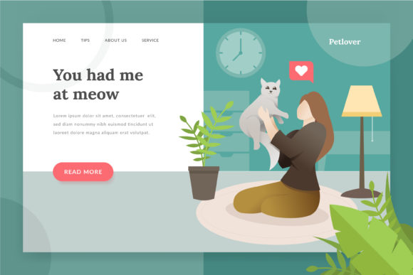 Pet Lover Landing - Page Illustration Graphic Websites By Fand