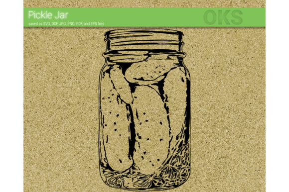Download Free Pickle Jar Vector Graphic By Crafteroks Creative Fabrica for Cricut Explore, Silhouette and other cutting machines.