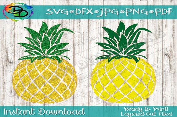 Download Free Pineapple Clipart Graphic By Dynamicdimensions Creative Fabrica for Cricut Explore, Silhouette and other cutting machines.