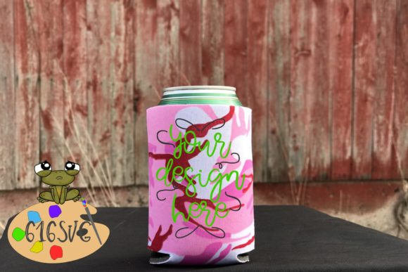 Pink Camo Can Cooler Mockup Graphic Product Mockups By 616SVG