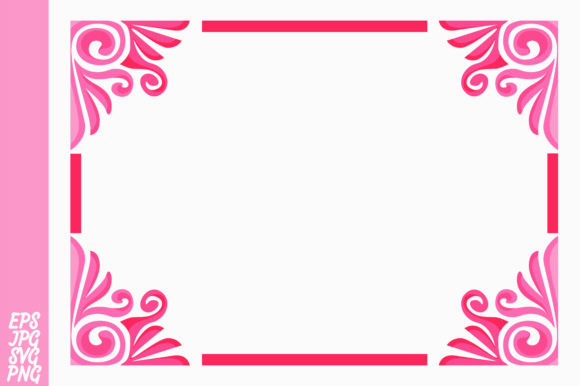 Print on Demand: Pink Ornament Border Vector Graphic Backgrounds By Arief Sapta Adjie
