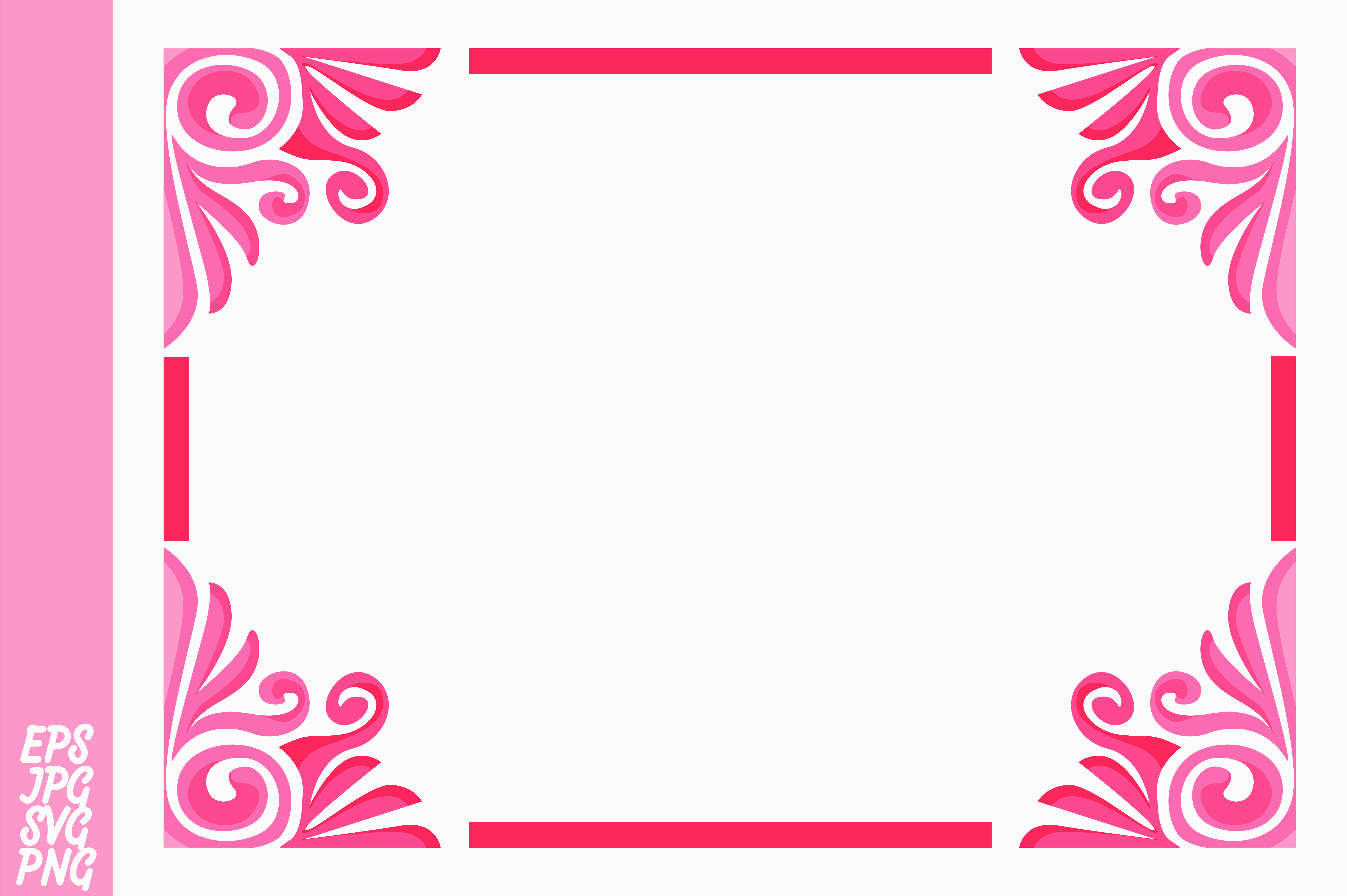 Download Free Pink Ornament Border Vector Graphic By Arief Sapta Adjie for Cricut Explore, Silhouette and other cutting machines.