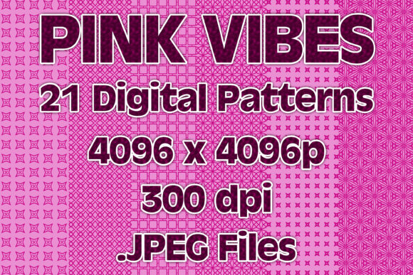 Pink Vibes Graphic Patterns By vessto