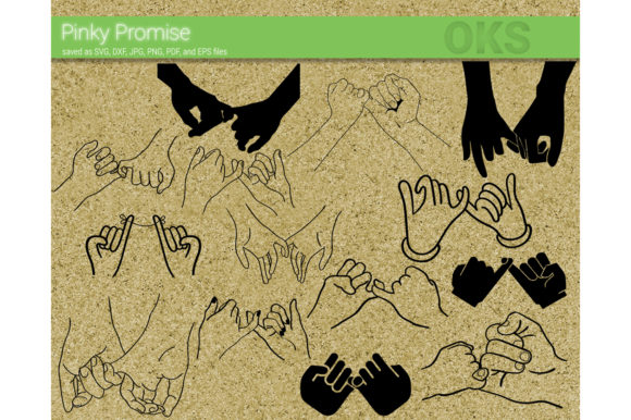 Download Free Pinky Promise Vector Graphic By Crafteroks Creative Fabrica for Cricut Explore, Silhouette and other cutting machines.