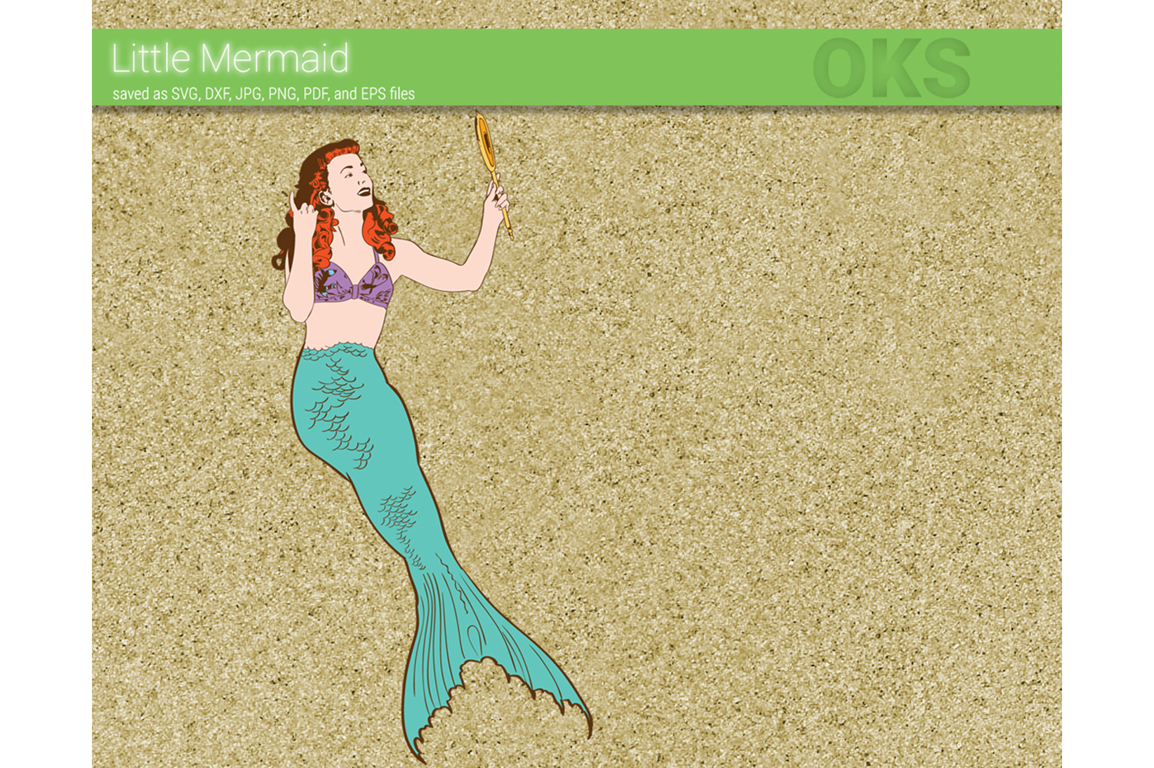 Download Free Pinup Girl Mermaid Svg Vector Graphic By Crafteroks Creative Fabrica for Cricut Explore, Silhouette and other cutting machines.
