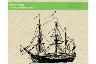 Print on Demand: Pirate Ship Vector Graphic Crafts By CrafterOks