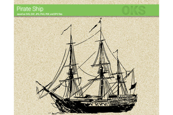 Print on Demand: Pirate Ship Svg Vector Graphic Crafts By CrafterOks