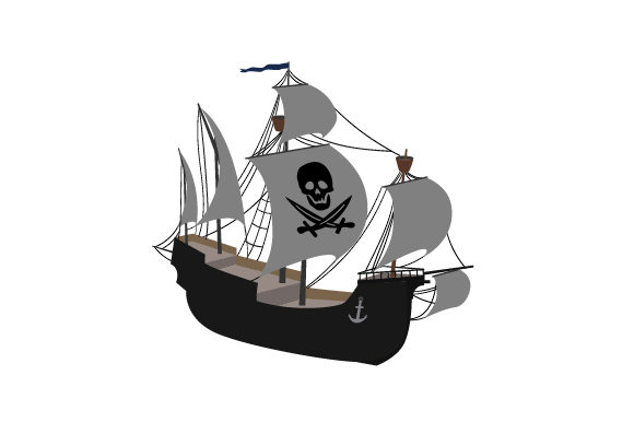 Pirate Ship Svg Cut File By Creative Fabrica Crafts Creative