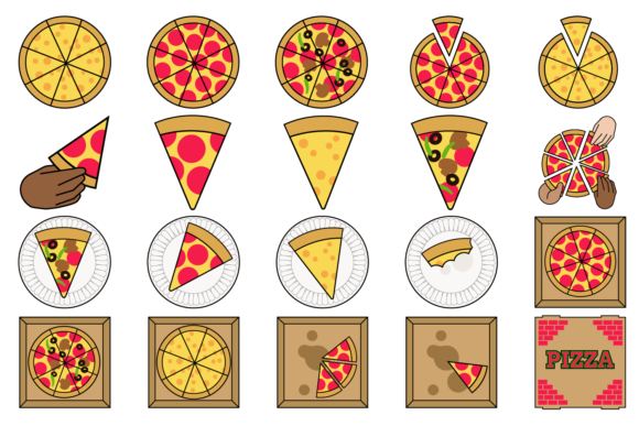 Pizza Party Clipart Graphic By Mine Eyes Design Image 2