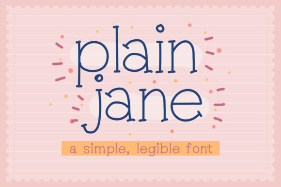 Print on Demand: Plain Jane Serif Font By Reg Silva Art Shop - Image 1