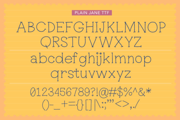 Print on Demand: Plain Jane Serif Font By Reg Silva Art Shop - Image 7