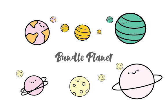 Planet Bundle Graphic By OKEVECTOR