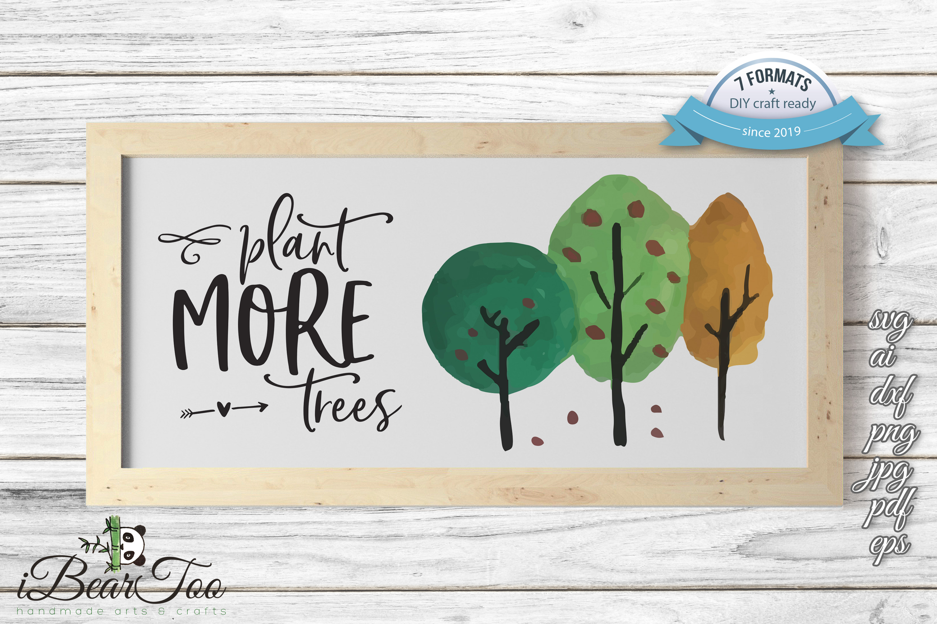 Download Free Plant More Trees Clipart Vector Svg Graphic By Ibeartoo for Cricut Explore, Silhouette and other cutting machines.