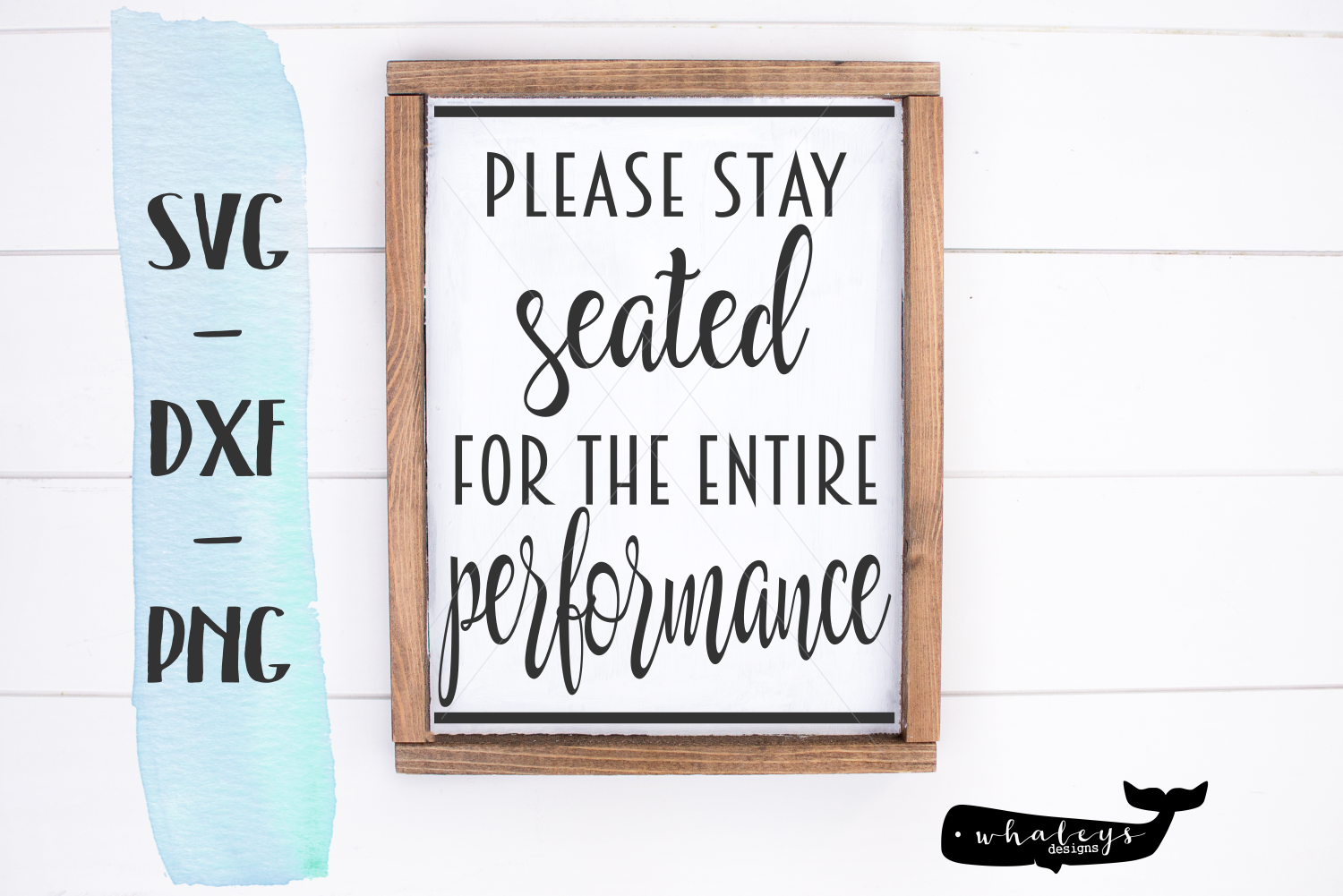 Download Free Please Stay Seated Performance Svg Graphic By Whaleysdesigns for Cricut Explore, Silhouette and other cutting machines.