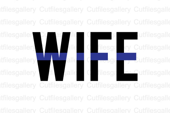 Download Free Police Wife Svg Graphic By Cutfilesgallery Creative Fabrica for Cricut Explore, Silhouette and other cutting machines.