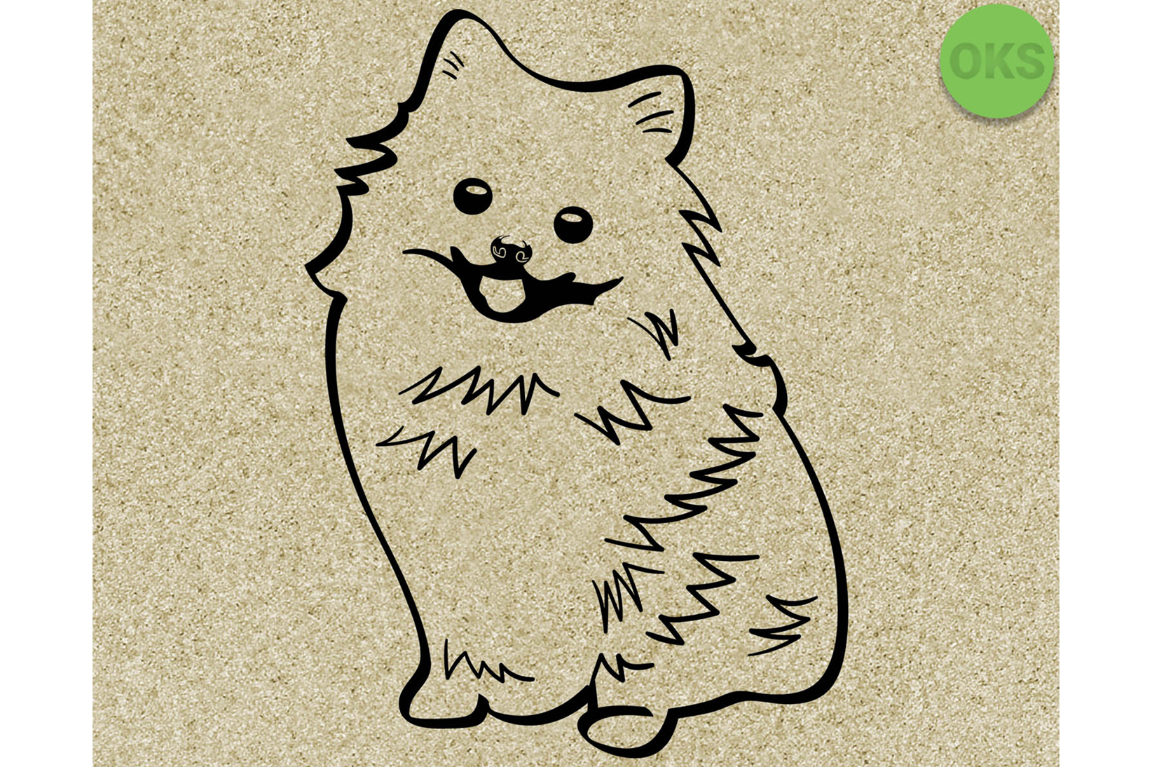 Download Free Pomeranian Dog Vector Graphic By Crafteroks Creative Fabrica for Cricut Explore, Silhouette and other cutting machines.