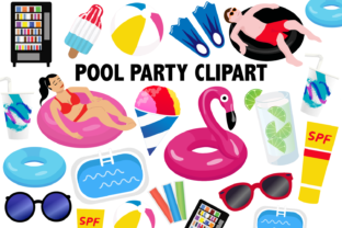 Pool Party Clipart Graphic By Mine Eyes Design