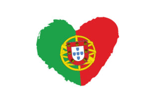Portugal Heart Shape with Flag Craft Design By Creative Fabrica Crafts