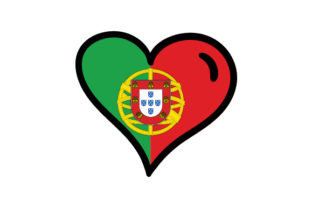Portugal Heart Shape with Flag Portugal Craft Cut File By Creative Fabrica Crafts