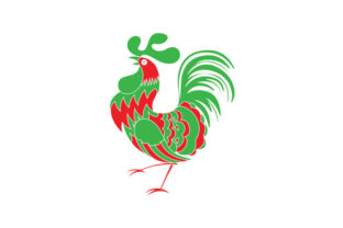 Portuguese National Animal - Rooster (Portugal Colors) Portugal Craft Cut File By Creative Fabrica Crafts