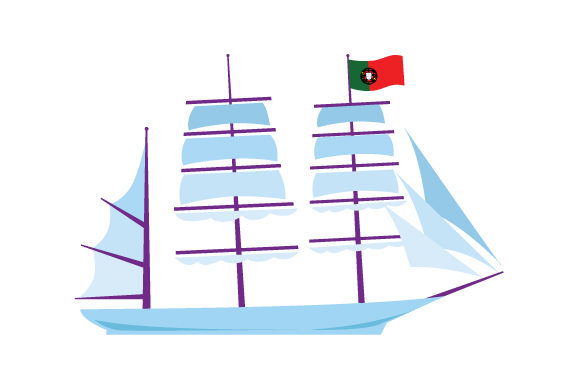 Portuguese Ship with Flag Portugal Craft Cut File By Creative Fabrica Crafts