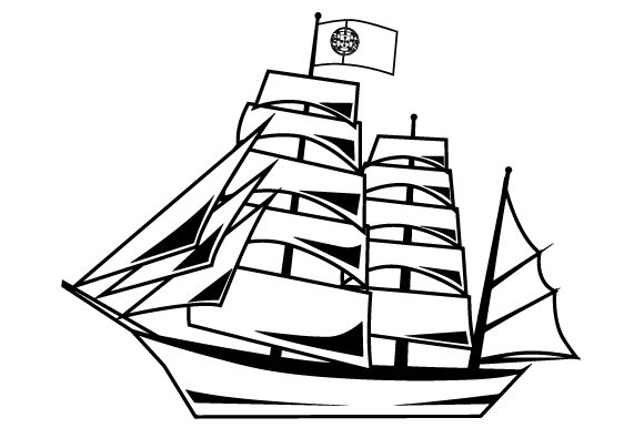 Portuguese Ship with Flag Portugal Craft Cut File By Creative Fabrica Crafts - Image 2