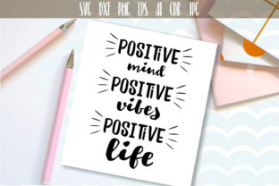 Positive Life Typography Graphic By Vector City Skyline