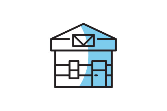 Download Free Post Office Icon Graphic By Hellopixelzstudio Creative Fabrica for Cricut Explore, Silhouette and other cutting machines.