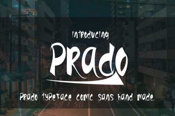 Print on Demand: Prado Display Font By jehansyah251