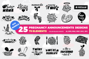 Download Free Pregnancy Announcement Graphic By Duka Creative Fabrica for Cricut Explore, Silhouette and other cutting machines.