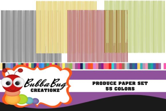 Produce Paper Set Graphic Backgrounds By BUBBABUG