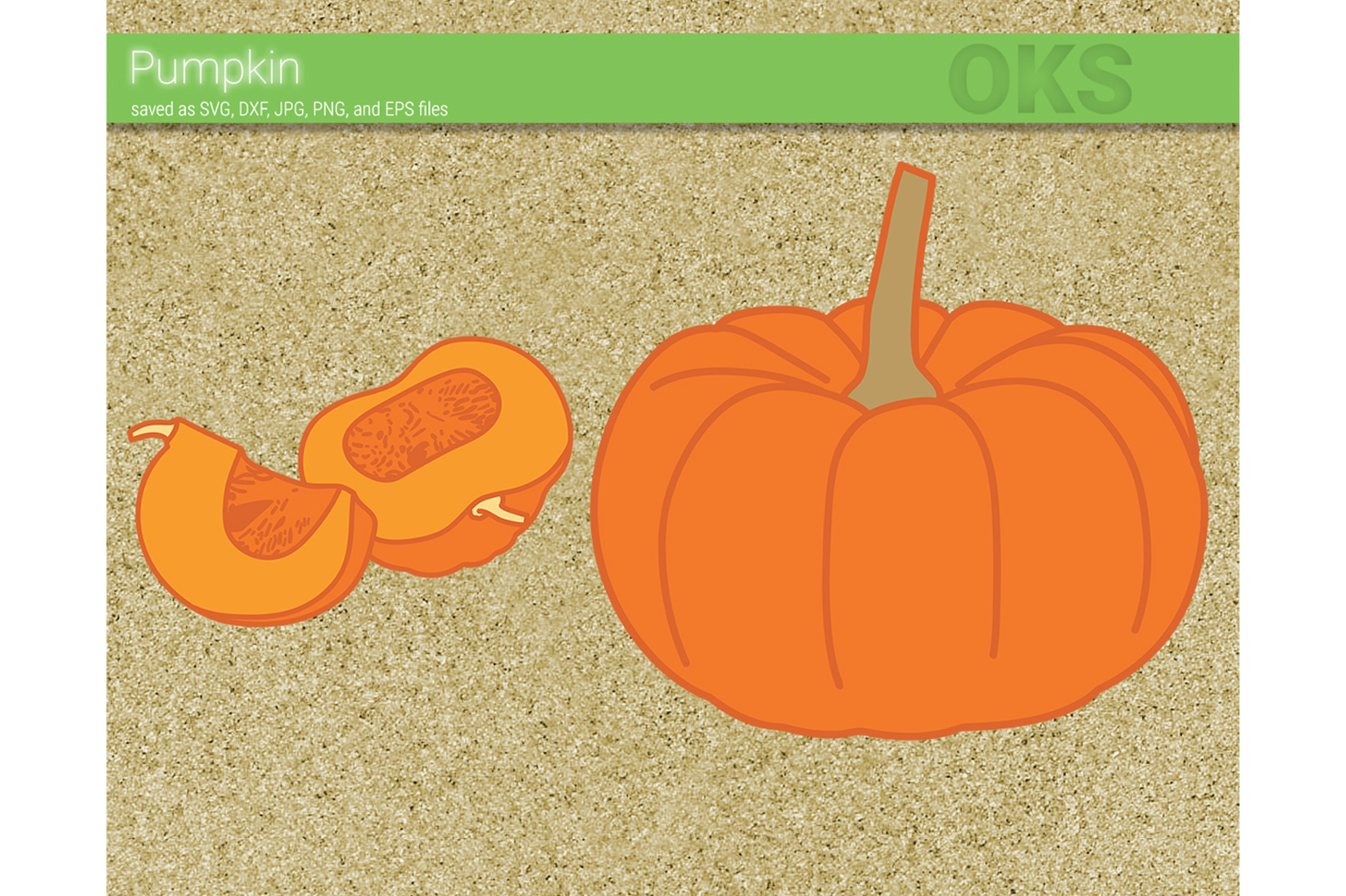 Download Free Pumpkin Fruit Vector Graphic By Crafteroks Creative Fabrica for Cricut Explore, Silhouette and other cutting machines.