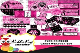 Download Free Punk Princess Candy Wrapper Set Graphic By Bubbabug Creative for Cricut Explore, Silhouette and other cutting machines.